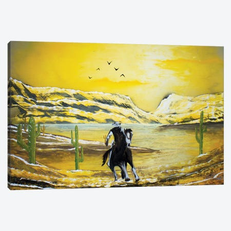 Western Cowboy Canvas Print #HMK195} by Nicolay Homenko Canvas Art Print