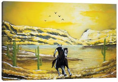 Western Cowboy Canvas Art Print
