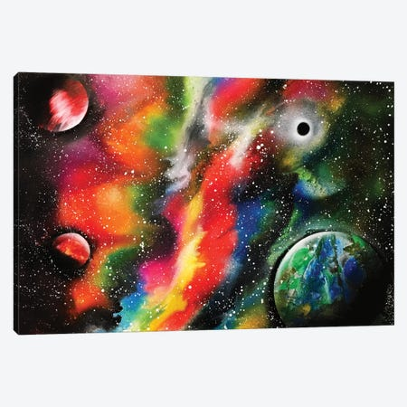 Bright Nebula And Planets Canvas Print #HMK19} by Nicolay Homenko Art Print