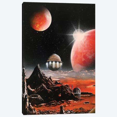 60's Style Sci Fi Canvas Print #HMK1} by Nicolay Homenko Canvas Wall Art