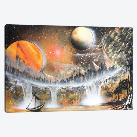 Brown Space Landscape With Lonely Boat Canvas Print #HMK21} by Nicolay Homenko Canvas Artwork