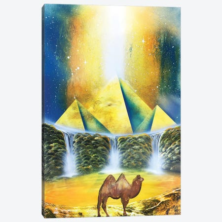 Camel In Egypt Canvas Print #HMK22} by Nicolay Homenko Canvas Art