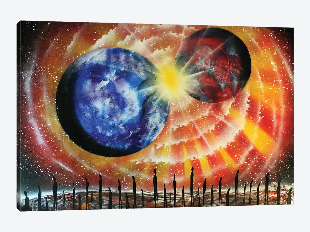 Collision Of Planets by Nicolay Homenko 1-piece Canvas Artwork