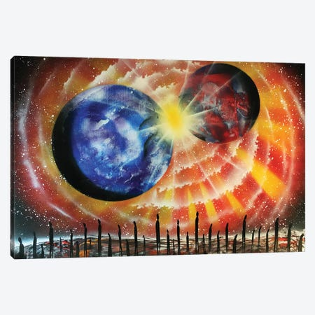 Collision Of Planets Canvas Print #HMK24} by Nicolay Homenko Canvas Art Print