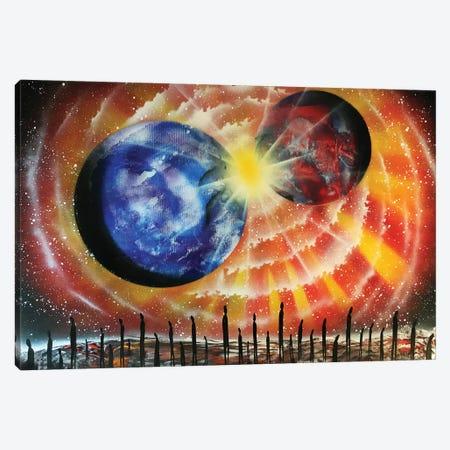 Collision Of Planets Canvas Print #HMK24} by Nicolay Homenko Canvas Art Print