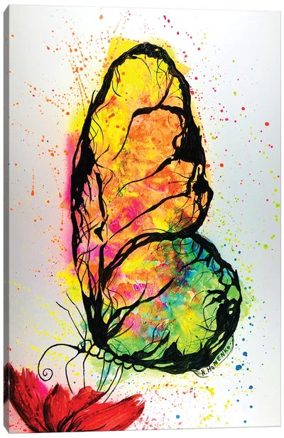 Colorful Butterfly Canvas Art Print