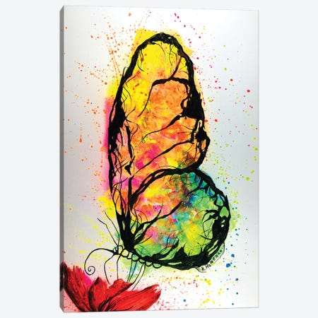 Colorful Butterfly Canvas Print #HMK25} by Nicolay Homenko Art Print