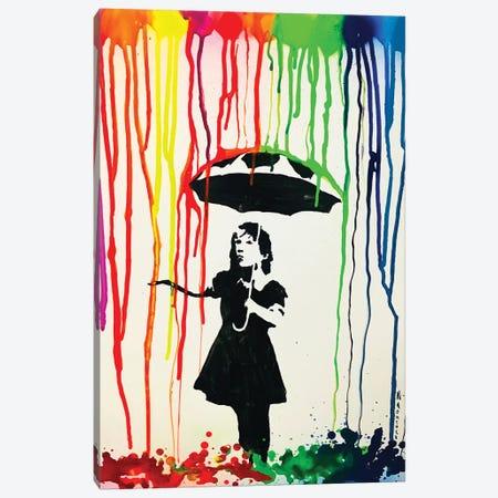 Colorful Rain 3-Piece Canvas #HMK30} by Nicolay Homenko Art Print