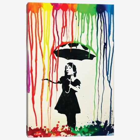 Colorful Rain Canvas Print #HMK30} by Nicolay Homenko Art Print
