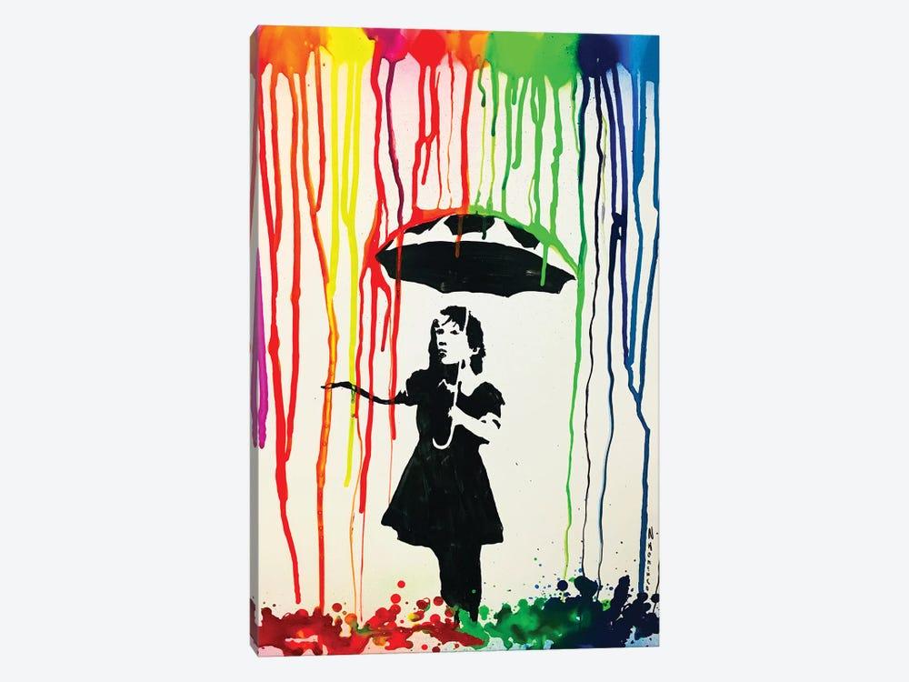 Colorful Rain by Nicolay Homenko 1-piece Canvas Print