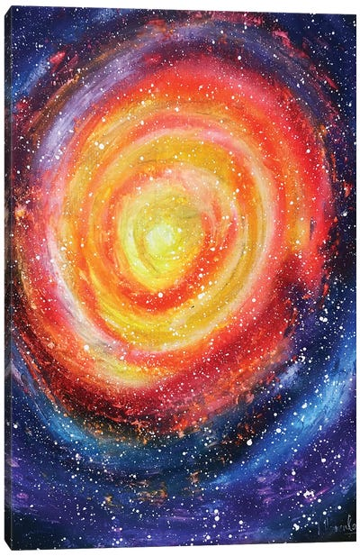 Colorful Space Whirlpool Canvas Art Print