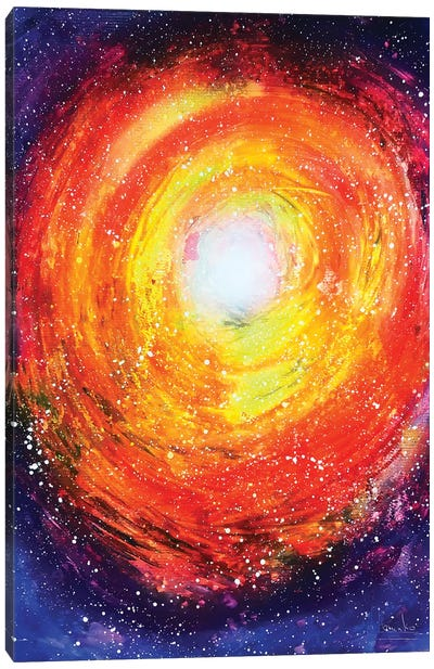 Colorful Spiral Abstract Canvas Art Print