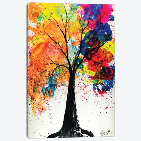 Colorful Tree Canvas Print #HMK33} by Nicolay Homenko Canvas Art Print