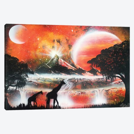 Couple Giraffe Canvas Print #HMK34} by Nicolay Homenko Canvas Art
