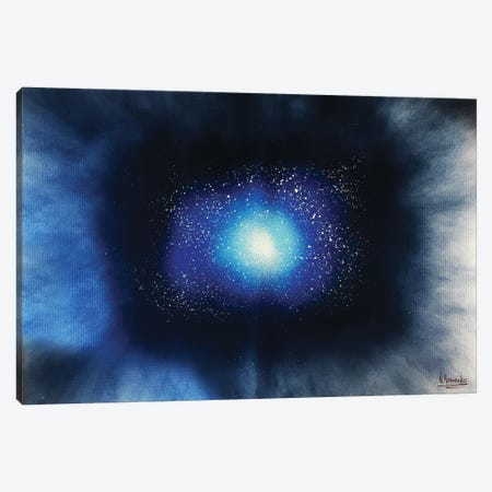 Deep Blue Space Canvas Print #HMK37} by Nicolay Homenko Canvas Wall Art