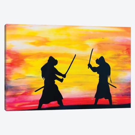 Fighting Warriors Canvas Print #HMK44} by Nicolay Homenko Canvas Print