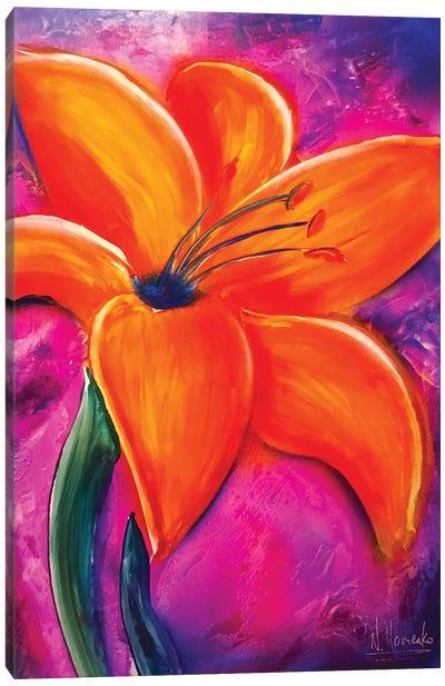 Fluorescent Flower Canvas Art Print