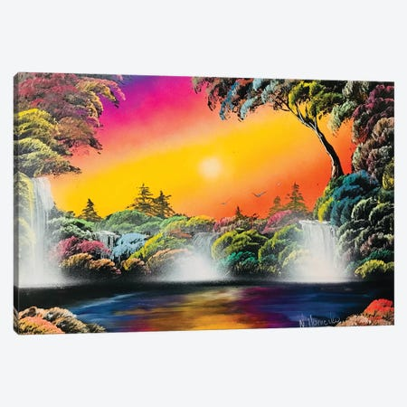 Fluorescent Jungle Landscape Canvas Print #HMK46} by Nicolay Homenko Canvas Print