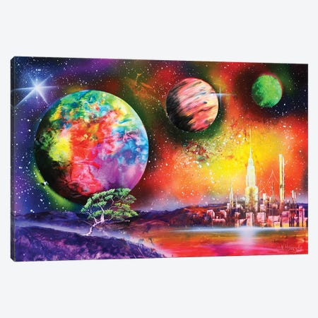 Fluorescent Planet Landscape Canvas Print #HMK47} by Nicolay Homenko Art Print