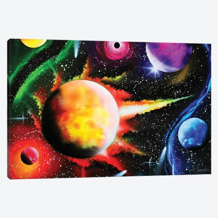 Fluorescent Planets Canvas Print #HMK48} by Nicolay Homenko Canvas Wall Art
