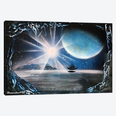 Flying Ship Canvas Print #HMK49} by Nicolay Homenko Canvas Artwork