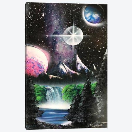 Forest Under Milky Way Canvas Print #HMK51} by Nicolay Homenko Art Print