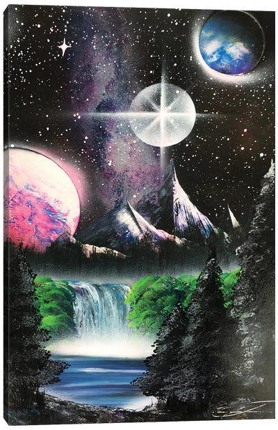 Forest Under Milky Way Canvas Art Print