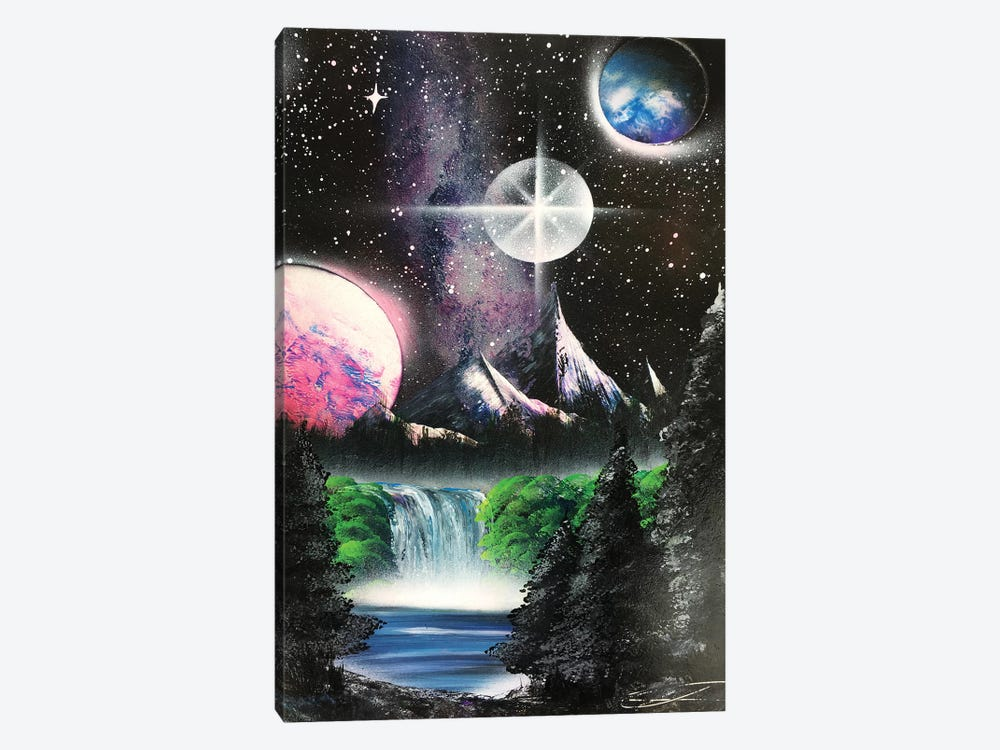 Forest Under Milky Way by Nicolay Homenko 1-piece Canvas Wall Art