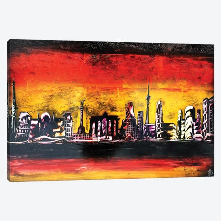 Germany Flag Berlin City Canvas Print #HMK55} by Nicolay Homenko Canvas Artwork