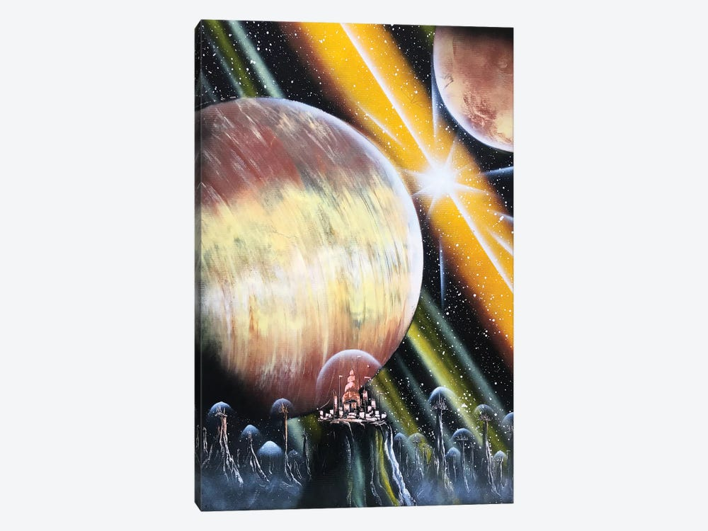 Giant Planet And Spacestation by Nicolay Homenko 1-piece Canvas Print