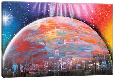 Another Planet City Canvas Art Print