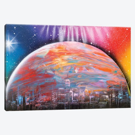 Another Planet City Canvas Print #HMK5} by Nicolay Homenko Canvas Print