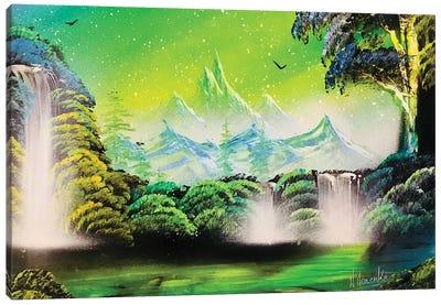 Landscape In Green Colors Canvas Art Print
