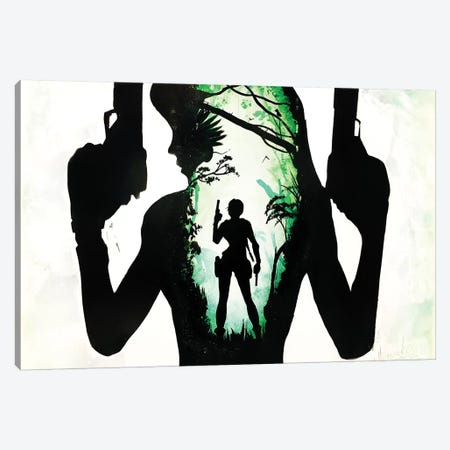 Lara Croft Art Canvas Print #HMK68} by Nicolay Homenko Canvas Art