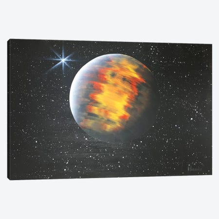 Lonely Mars Canvas Print #HMK69} by Nicolay Homenko Canvas Artwork