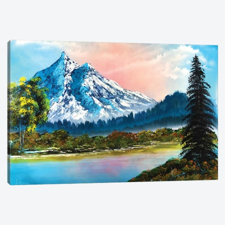 Mountain Landscape Canvas Print #HMK72} by Nicolay Homenko Canvas Art Print
