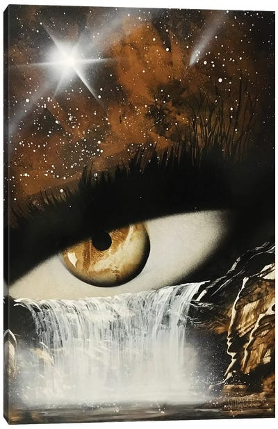 Mystical Eye In Brown Colors Canvas Art Print
