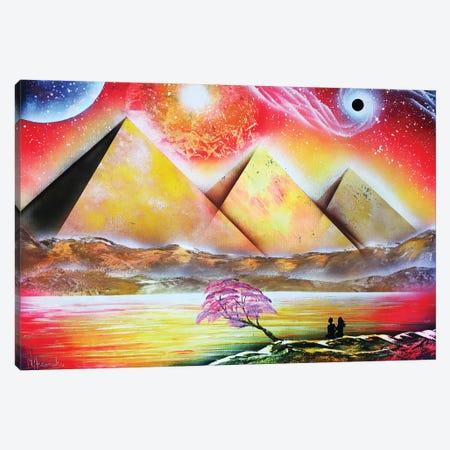 Mystical Pyramind Landscape Canvas Print #HMK78} by Nicolay Homenko Canvas Art Print