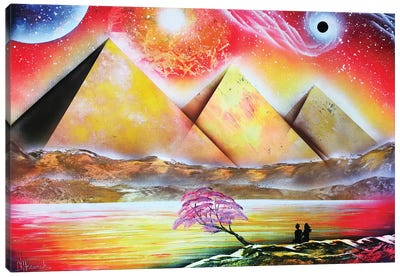 Mystical Pyramind Landscape Canvas Art Print