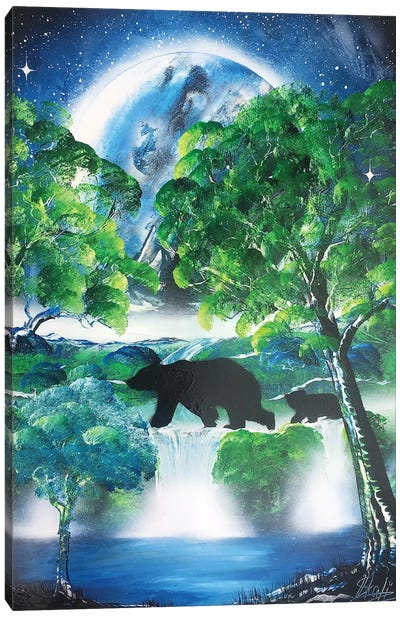 Bears Family Canvas Art Print