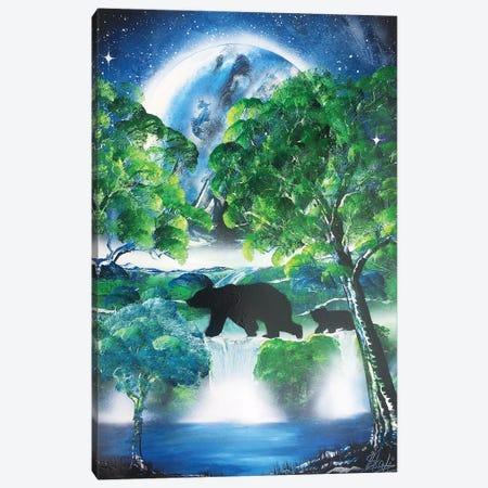 Bears Family Canvas Print #HMK8} by Nicolay Homenko Canvas Wall Art
