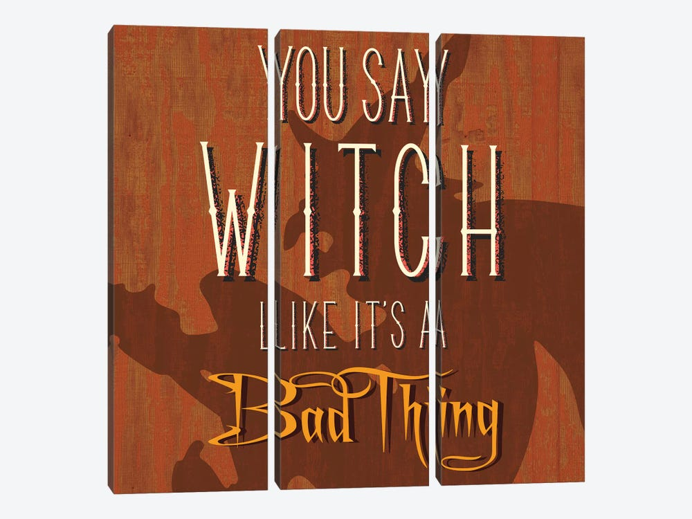 You Say Witch Like It's A Bad Thing by 5by5collective 3-piece Canvas Art