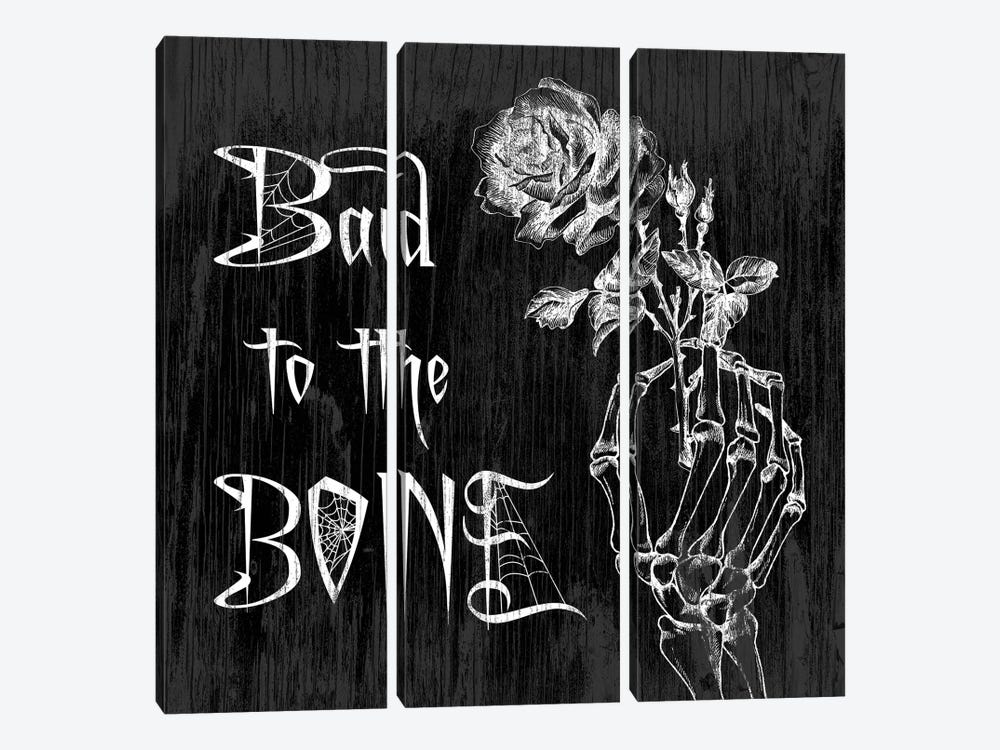 Bad To The Bone by 5by5collective 3-piece Art Print