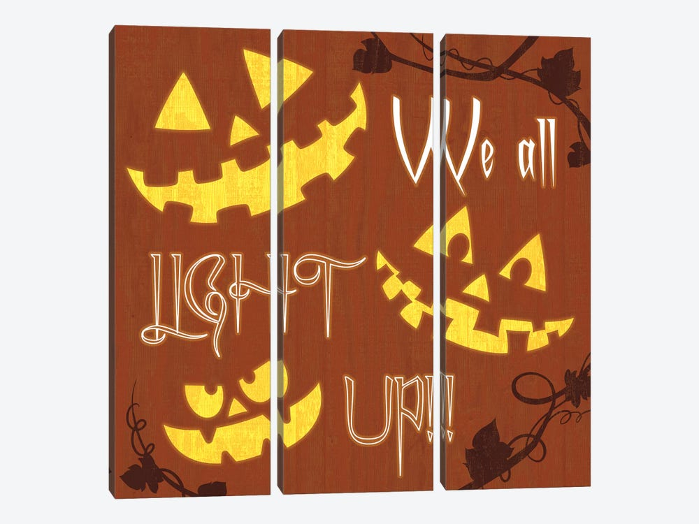 We All Light Up by 5by5collective 3-piece Canvas Artwork