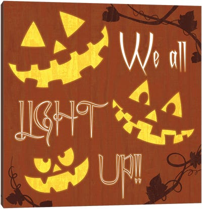 We All Light Up Canvas Art Print