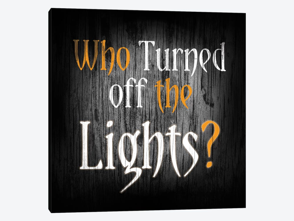 Who Turned Off The Lights by 5by5collective 1-piece Art Print