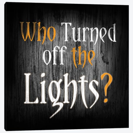 Who Turned Off The Lights Canvas Print #HMO9} by 5by5collective Canvas Wall Art