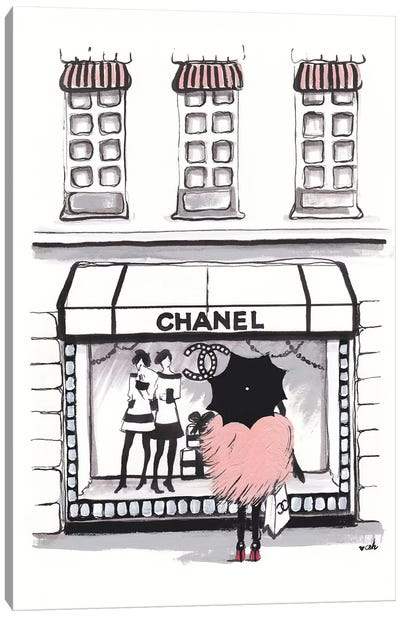 Shopping Chanel Canvas Art Print