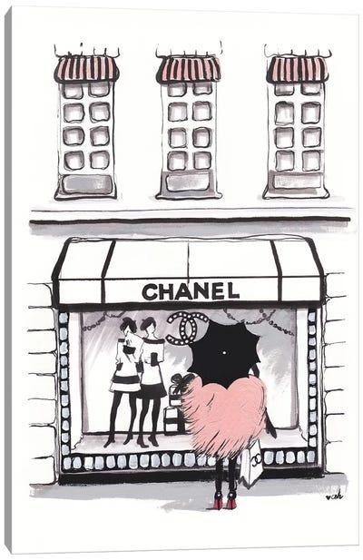 Shopping Chanel Canvas Art Print