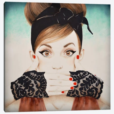 Speak No Evil Big Good Canvas Print #HMR102} by Anna Hammer Canvas Art
